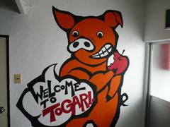 スノーダルマ食堂:壁の豚