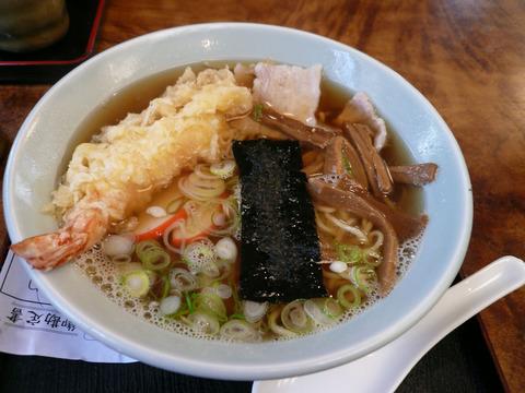 角丸:中華そば+天ぷら