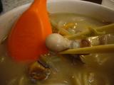 台北:海鮮麺具のアップ
