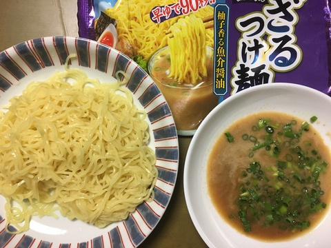 日清ざるつけ麺柚子香る魚介醤油(いつ食べても…)