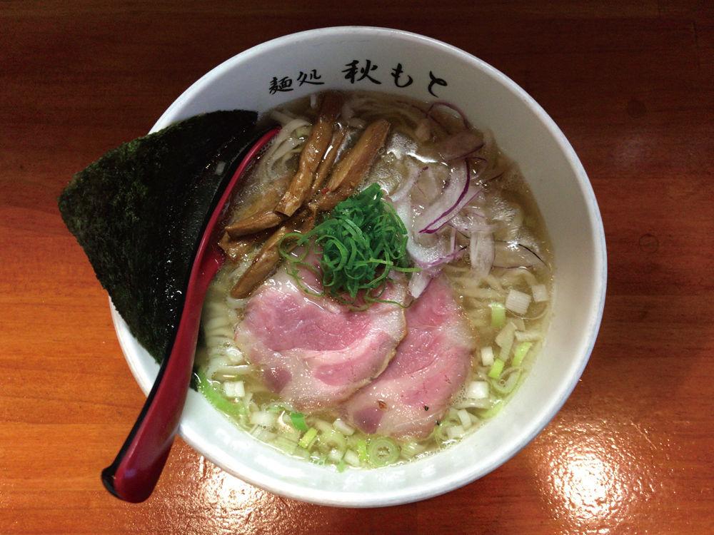 麺処 秋もと@市が尾 / 豚と煮干しの塩 + 鰹のなめろうご飯(三周年特別限定)