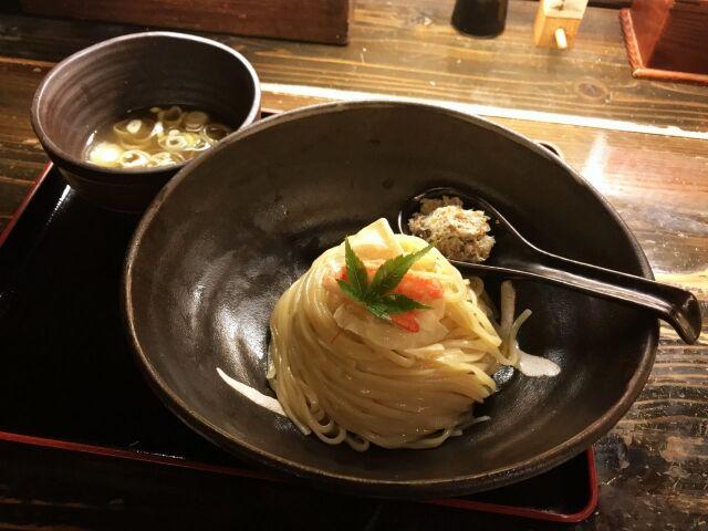大津 天下ご麺 / 清涼感、そして芳醇な香り・・・蟹の冷しつけ麺 @滋賀県大津市浜大津