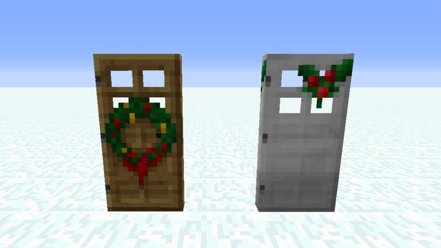 クリスマス仕様のドア