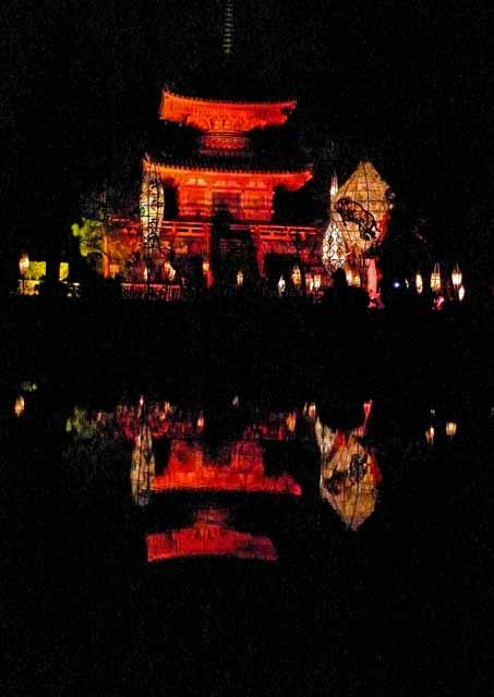 ラベンダーの日記  京都嵐山花灯路コメント                ラベンダー