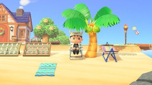 家の前の砂浜