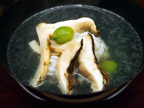 鱧・銀杏・松茸の椀