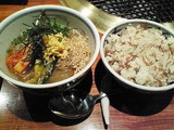 冷麺とじゃこご飯