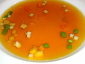野菜・リードヴォー・フォアグラ入りコンソメスープ