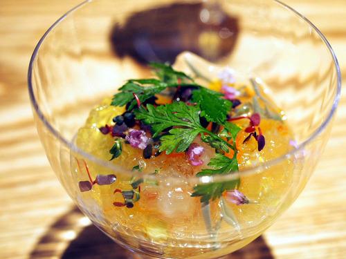 水茄子と牡丹海老