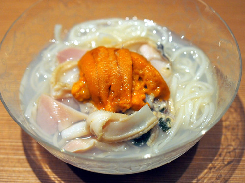 蛤と雲丹の稲庭饂飩