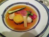 牛のダブルブイヨンスープと野菜のポトフ仕立て