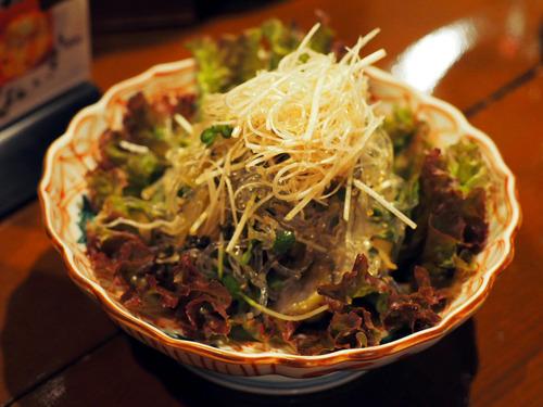 柴漬けサラダ
