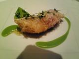 的鯛のフリチュール ブロッコリーソース