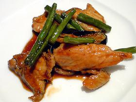 豚肉と茄子の辛し味噌炒め