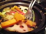 中華ハムと季節野菜の土鍋蒸し