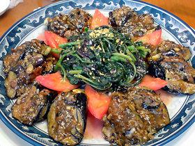 茄子とひき肉豆鼓蒸し煮