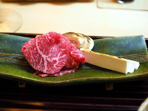 牛肉と松茸