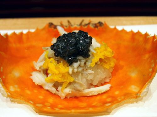 渡り蟹とキャビアの飯蒸し