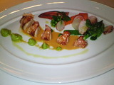 ロブスターと季節野菜のサラダ仕立て