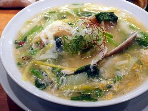 蛤の卵とじ麺