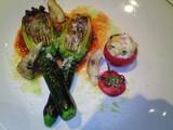 花ズッキーニとトマトのファルシ