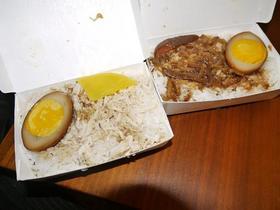 ルーロー飯と鶏肉飯