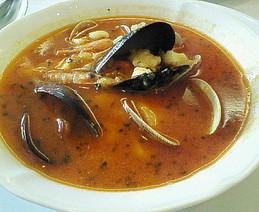 魚介のスープ サフラン風味
