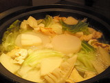 つぶ貝と春野菜鍋