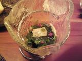 魚介と山菜のサラダ 葉山葵のジュレ
