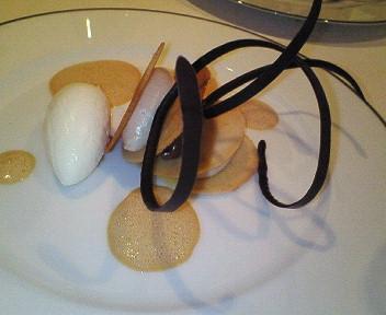 栗とビターチョコレートのフイヤンティーヌ
