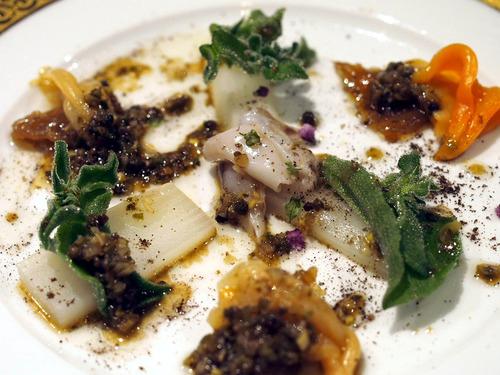 鳥貝と青柳の山椒風味冷菜