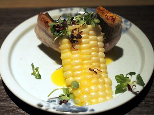 イサキとトウモロコシ