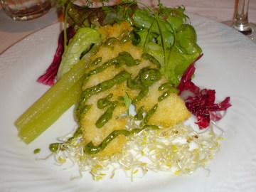 新筍のフリット ふき味噌のソース