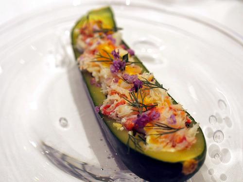 ズッキーニとズワイ蟹のサラダ