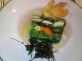 野菜のテリーヌと花ズッキーニのフリット