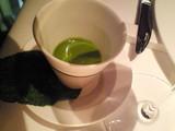 青梗菜の冷たいヴルーテ