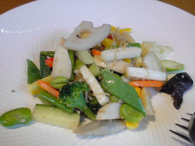 健康野菜の炒めもの