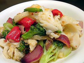 海鮮と季節野菜のXO醤炒め