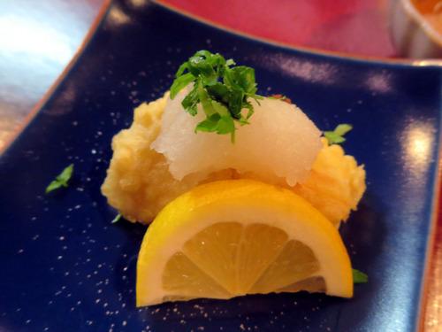 筍の焼き天ぷら