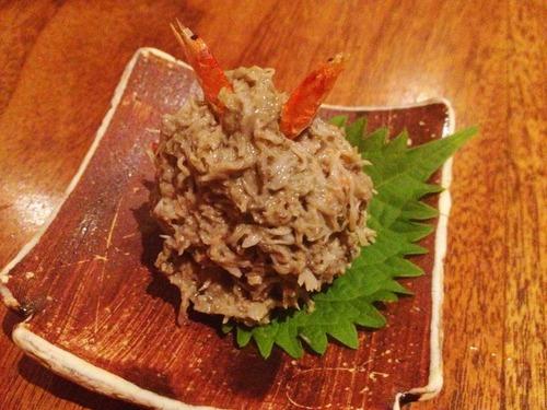 蟹味噌和え