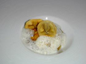 バナナチップとマスカルポーネ