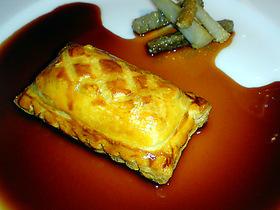 うなぎのパイ包み焼き 牛蒡のムニエル添え ポルト酒風味