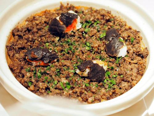 鴨と蟹とトリュフの炊き込みご飯
