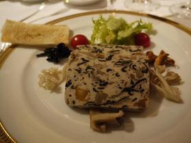 野生の茸と帆立貝のテリーヌ
