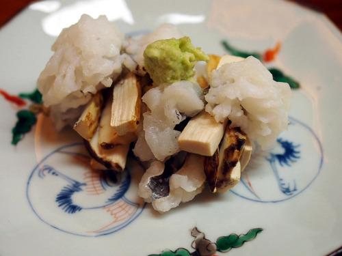 松茸と鱧の湯引き