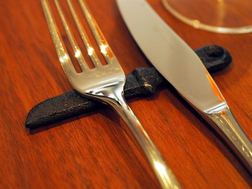 ナイフレストのナイフ