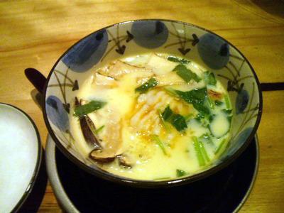 松茸と鱧の茶碗蒸し