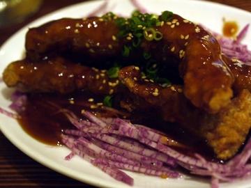 豚肉の黒酢風味
