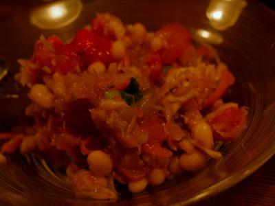 白いんげんとトマトのサラダ