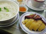 焼鵞鳥と鶏と温麺